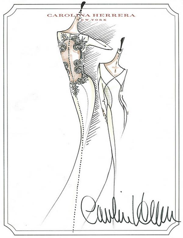 600x780 The Sketch From Carolina Herrera To The Twilight Wedding Dress