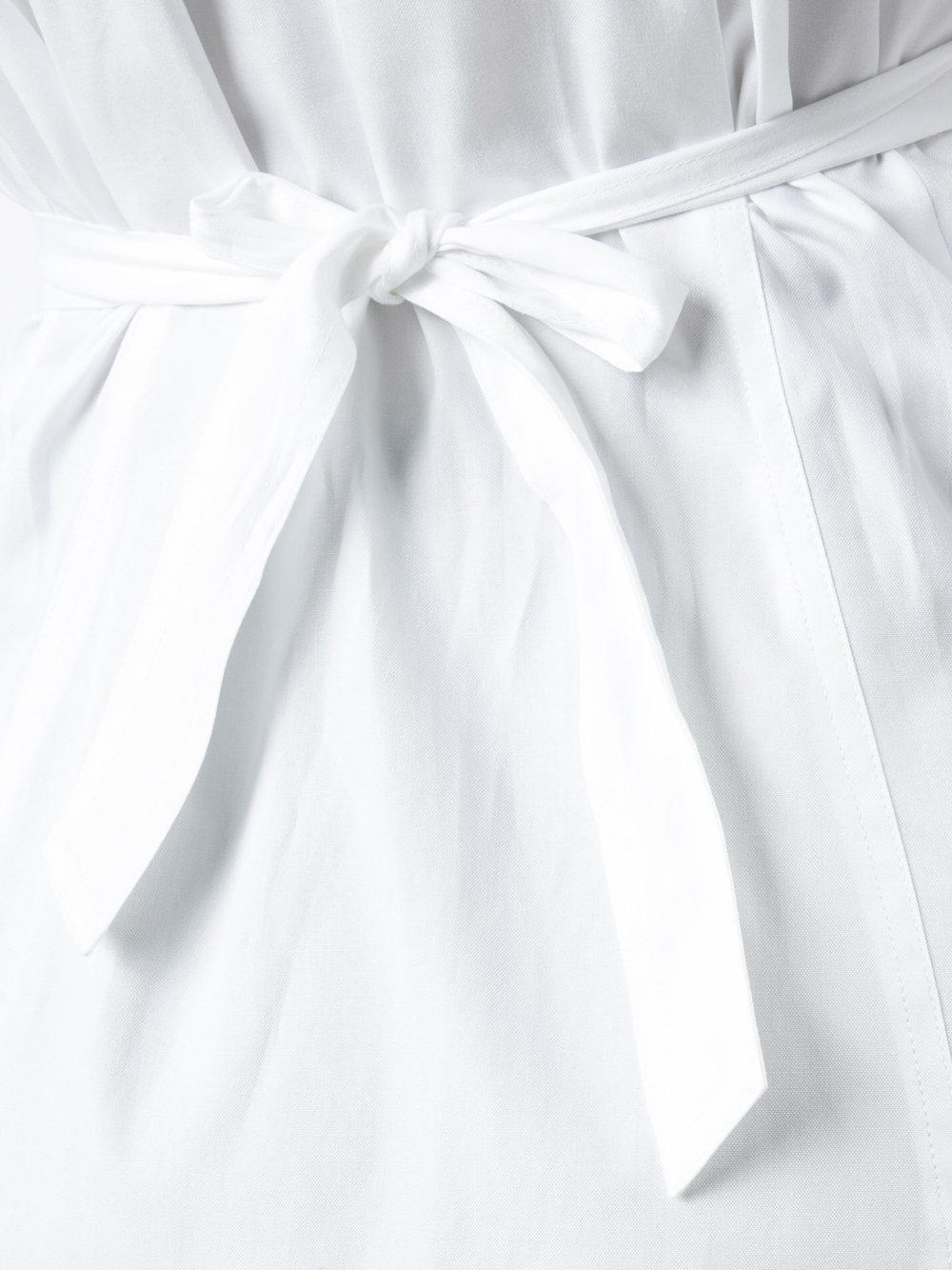 1000x1334 Yigal Azrouel Belted Shirt Optic Multi Women Clothing Shirts,yigal
