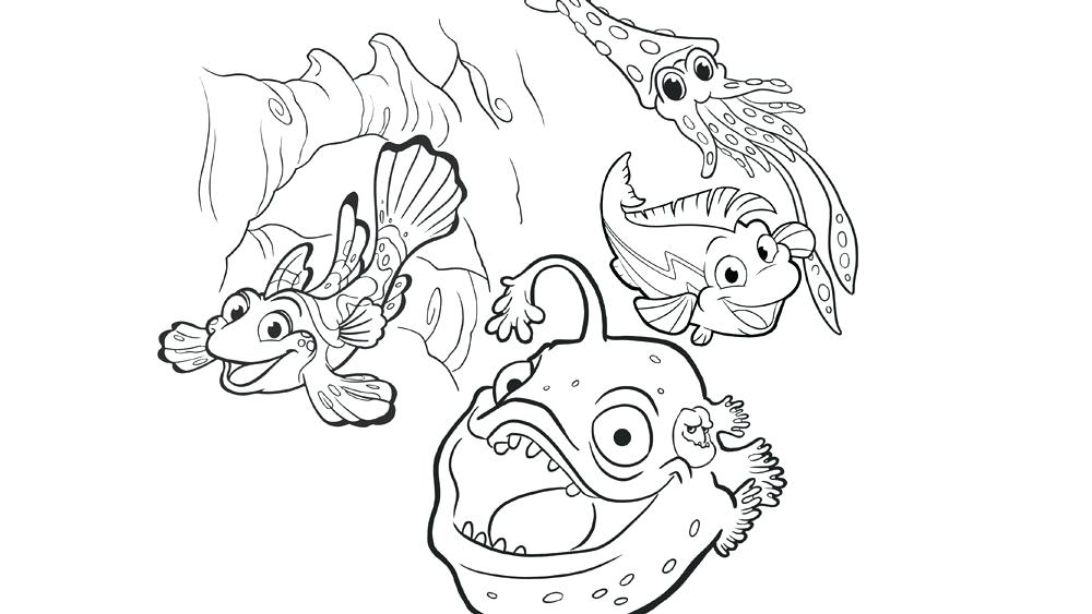 1000x563 One Fish Two Fish Red Fish Blue Fish Coloring Pages In The Ocean
