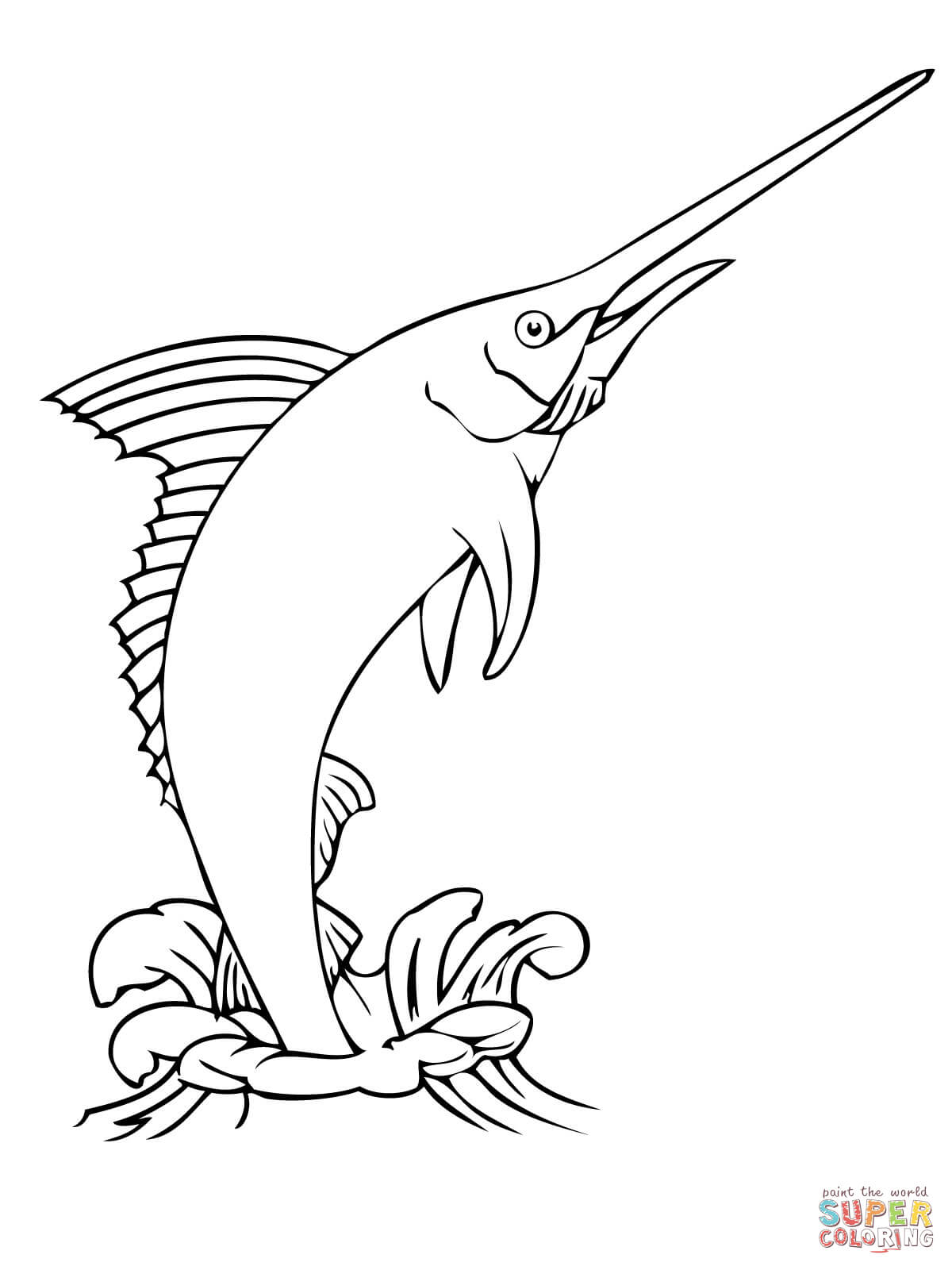 1200x1600 Blue Marlin Coloring Page Blue Marlin Coloring Page