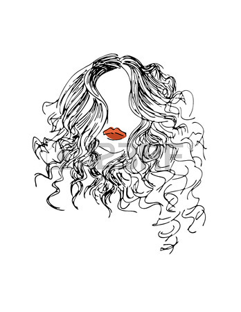 348x450 Red Hair Fashion Girl Royalty Free Cliparts, Vectors, And Stock