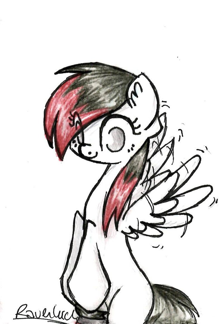 735x1087 Request Oc White Pegasus With Black Red Hair By Ravenluck