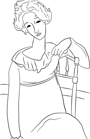 314x480 Women With Red Hair By Amedeo Modigliani Coloring Page Free