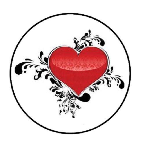 500x500 48 Red Heart Envelope Seals Labels Stickers 1.2 Round Ebay