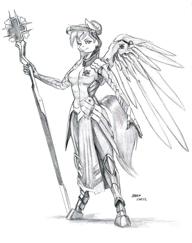 795x1004 Mercy Red Heart By Baron Engel