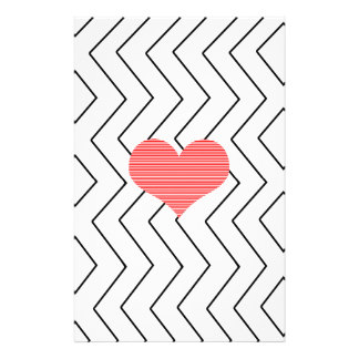 324x324 Red Heart Stationery, Red Heart Custom Stationery
