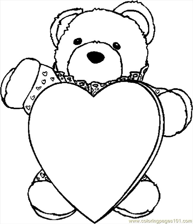 650x753 Teddy Bear With Heart Coloring Pages Click The Teddy Bear Holding