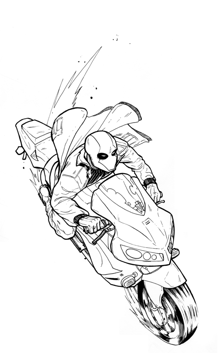 705x1133 red hood motorcycle ink by pikapikaichigo on deviantart
