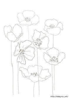 235x333 Bobbie Print Floral Drawings Flowers Floral