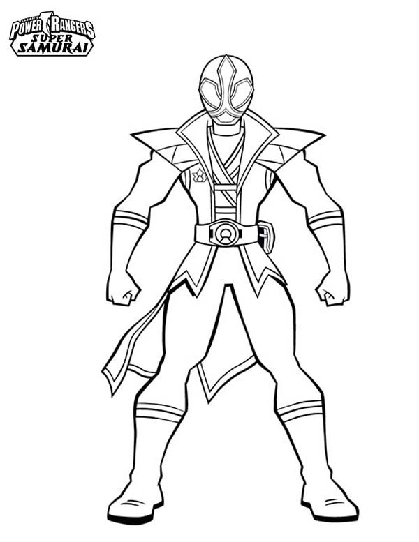 600x777 Amazing Red Ranger In Power Rangers Super Samurai Coloring Page