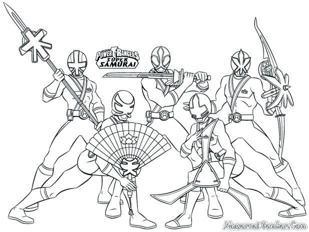 618x464 Power Rangers Coloring Pages Online Power Rangers Samurai Coloring
