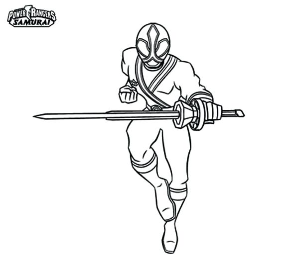600x561 Awesome Samurai Coloring Pages Print Power Rangers Page Color Red