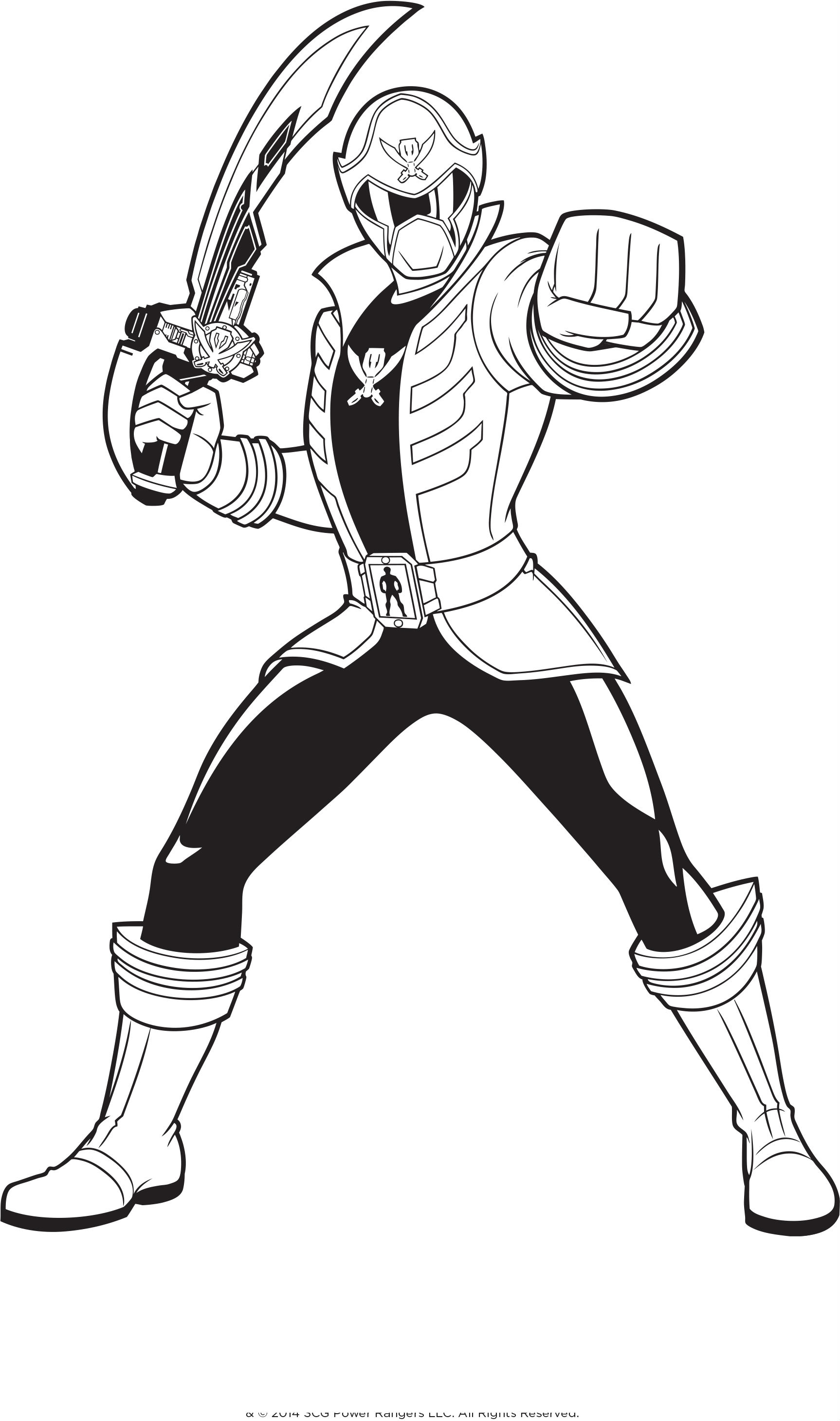 1726x2917 Power Rangers Holding A Sword Power Rangers Coloring Pages