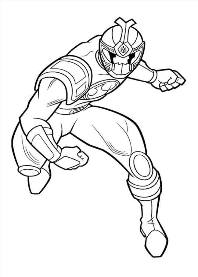 649x906 Red Power Ranger Coloring Pages