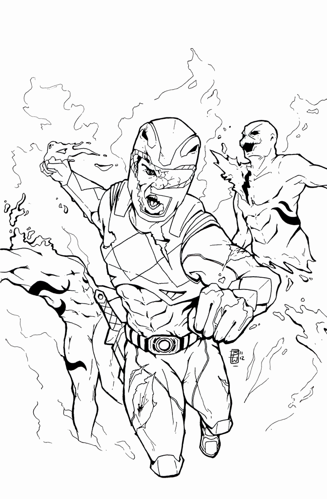 670x1024 Red Ranger Sketch By Ben Wilsonham