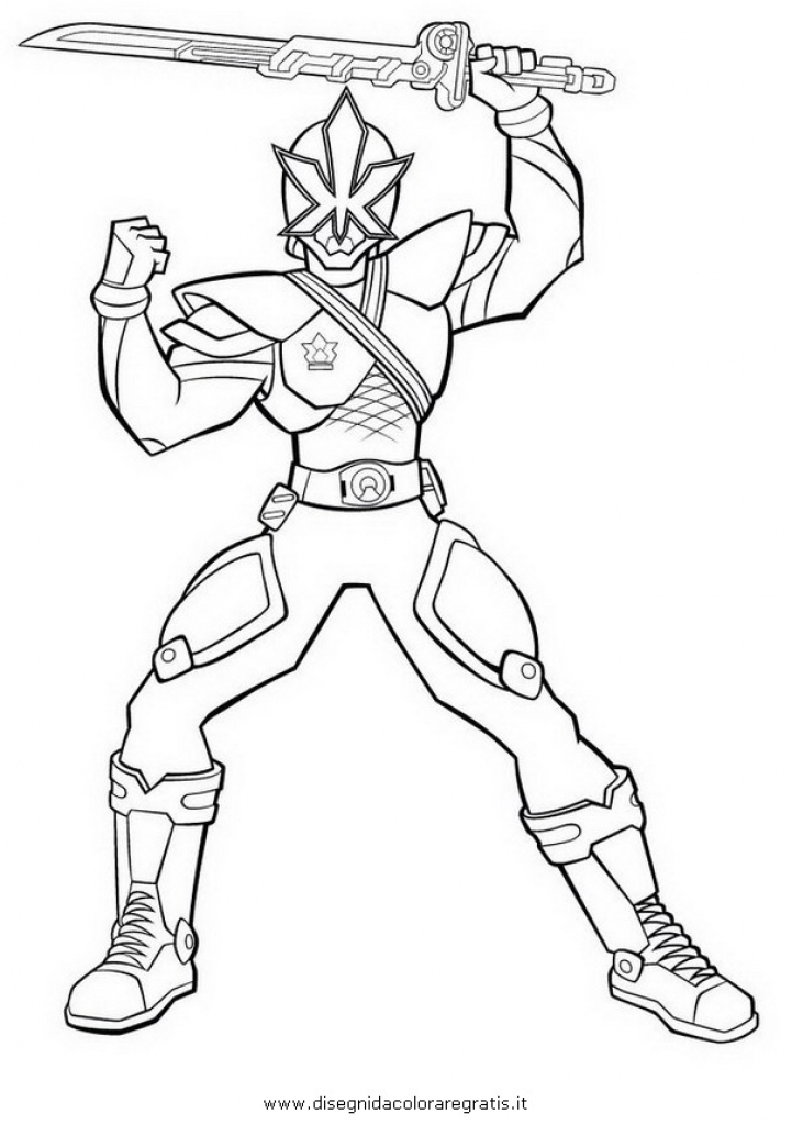 721x1024 Free Power Rangers Samurai Superheroes Coloring Page For Kids