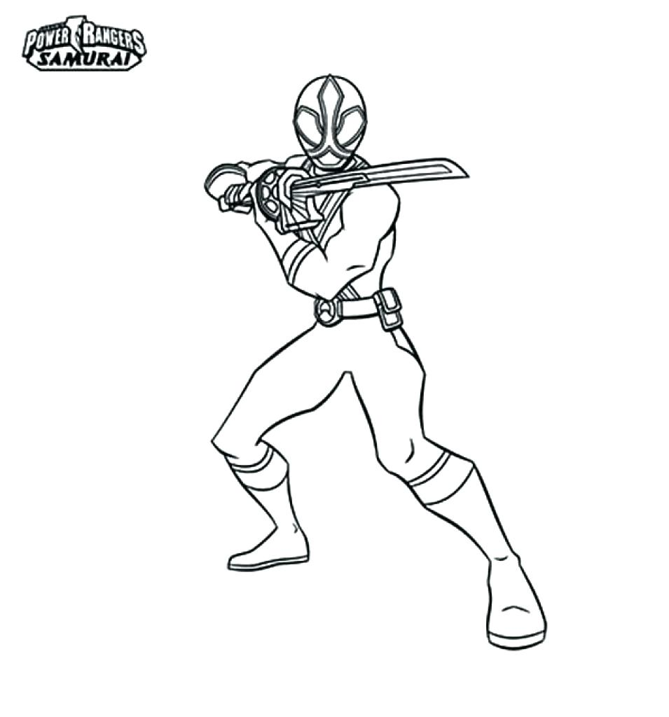 955x1024 Coloring Power Ranger Samurai Coloring Pages Red Of Rangers