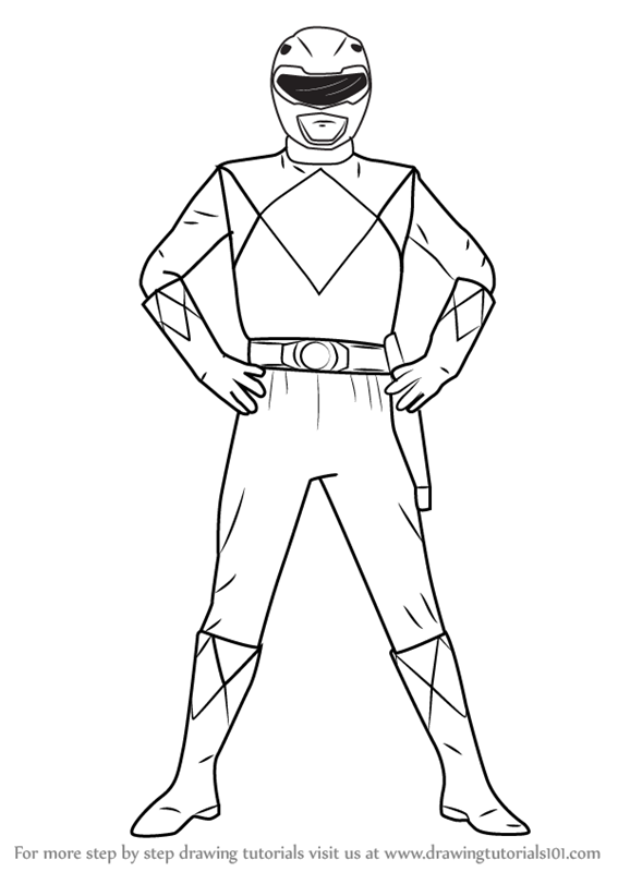 567x800 Learn How To Draw Red Ranger From Power Rangers (Power Rangers