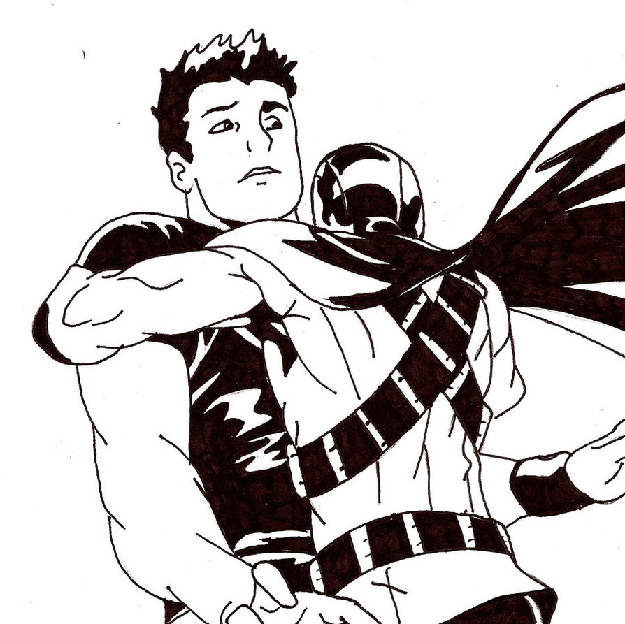 894x893 Red Robin X Superboy Inked By Tozumi T Grayson