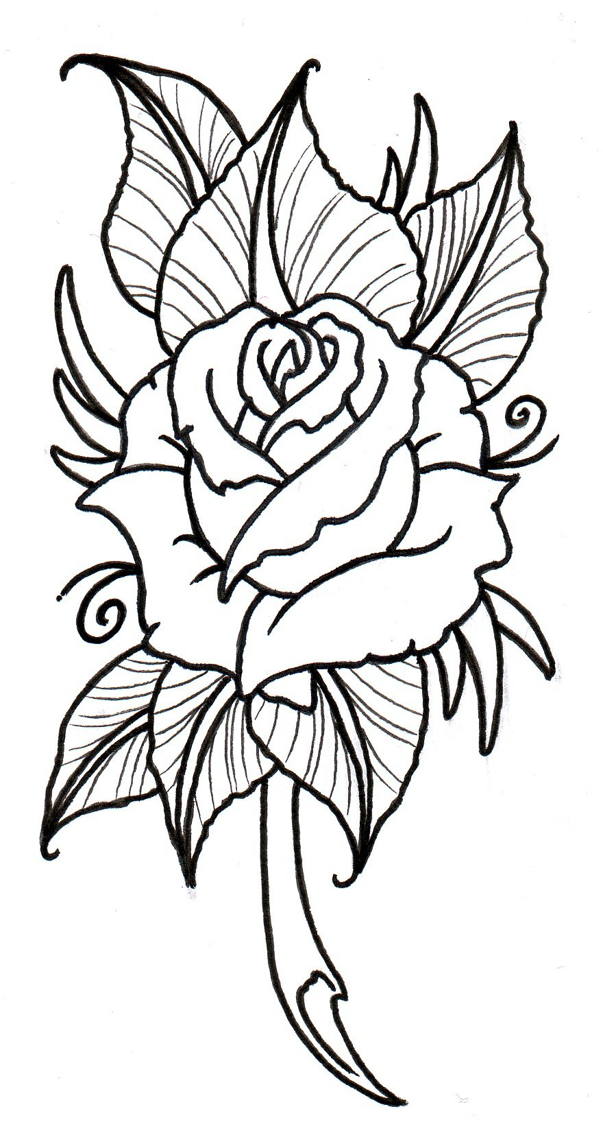 880x1671 Red Rose And Sword Tattoo Stencil In 2017 Real Photo, Pictures