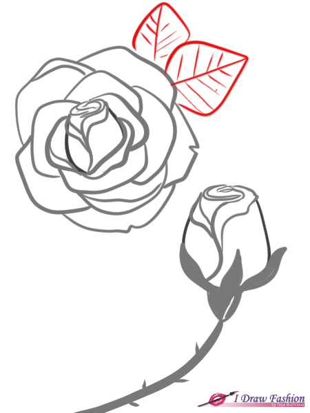 450x600 How To Draw Roses I Draw Fashion