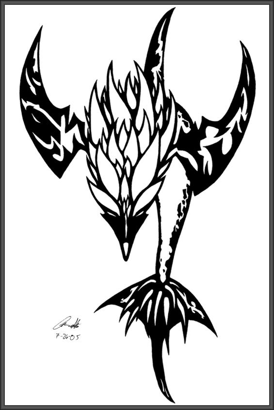 565x843 Glyph Dolphin Tattoo By Dusky Hawk