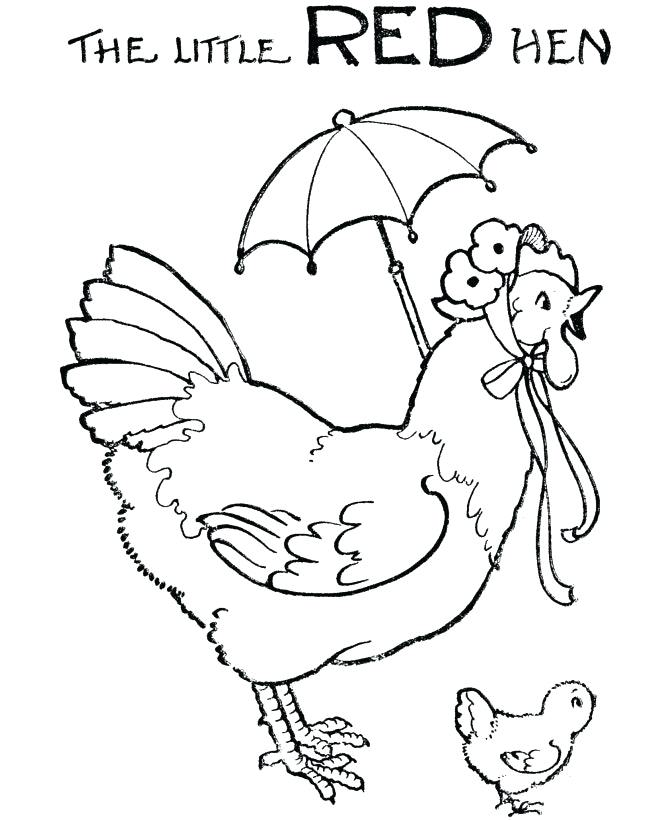 670x820 Red Coloring Pages The Little Red Hen Coloring Pages Pictures Red