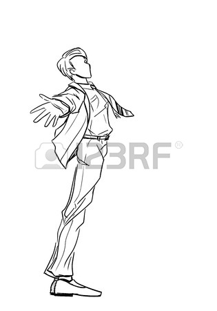 315x450 Fashionable Man In Red Coat And Long Scarf Royalty Free Cliparts