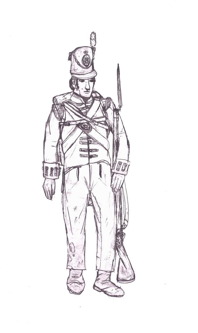 689x1159 British Napoleonic Redcoat Soldier By Swashbucklingartist1