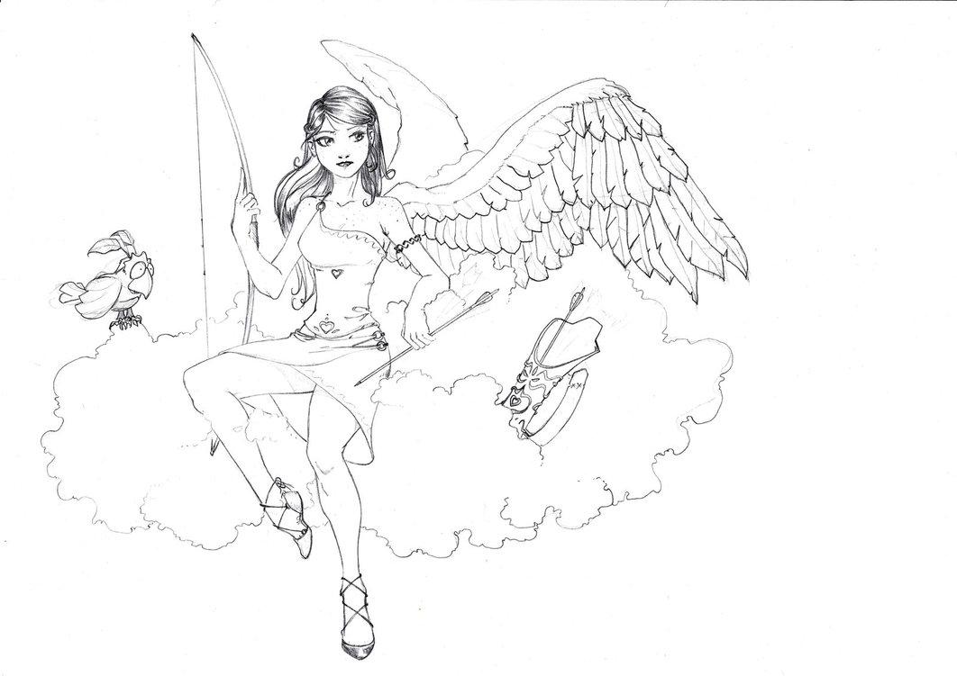 1062x751 Redhead Angel Archer Girl By Cocodesbois