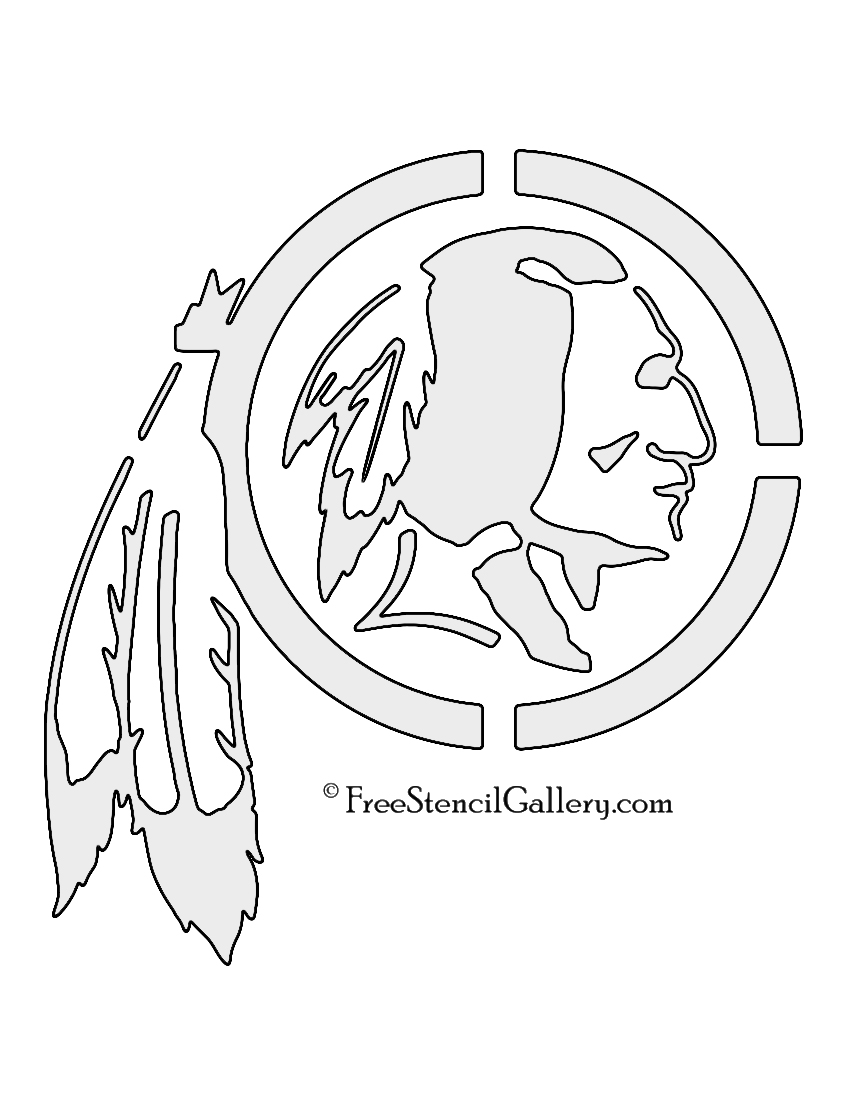 850x1100 Nfl Washington Redskins Stencil Free Stencil Gallery