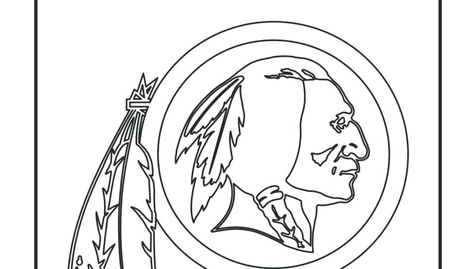 960x544 Nfl Coloring Page Redskins Logo Coloring Page Free Adult Printable