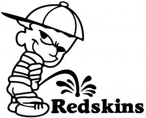 300x243 Pee On Redskins Car Or Truck Window Decal Sticker