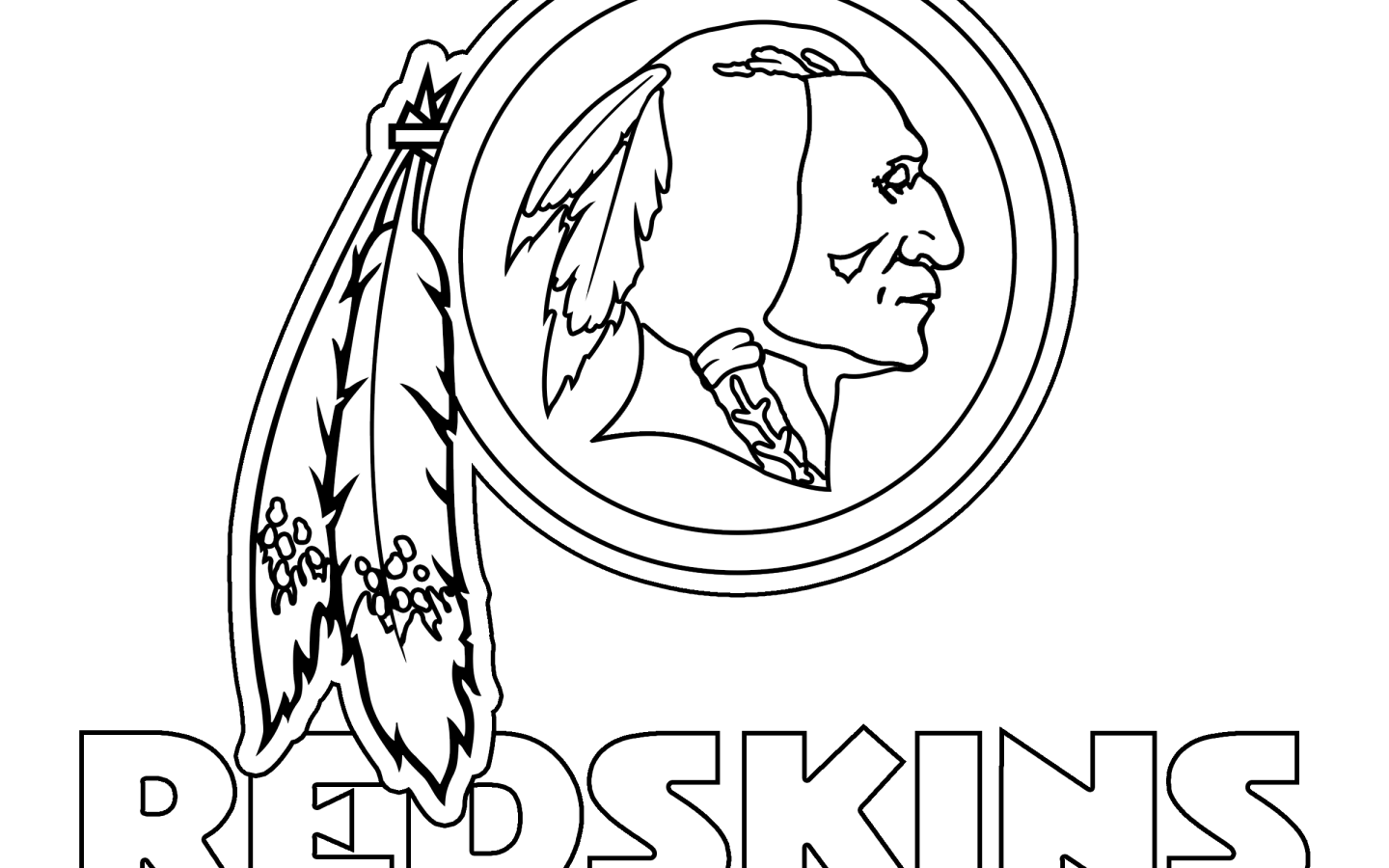 1440x900 Washington Redskins Coloring Pages
