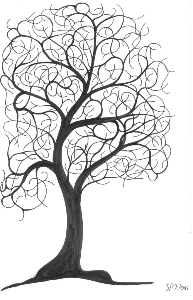 658x1024 Drawing Of A Tree A Tree Sketch Ninth Circle Design