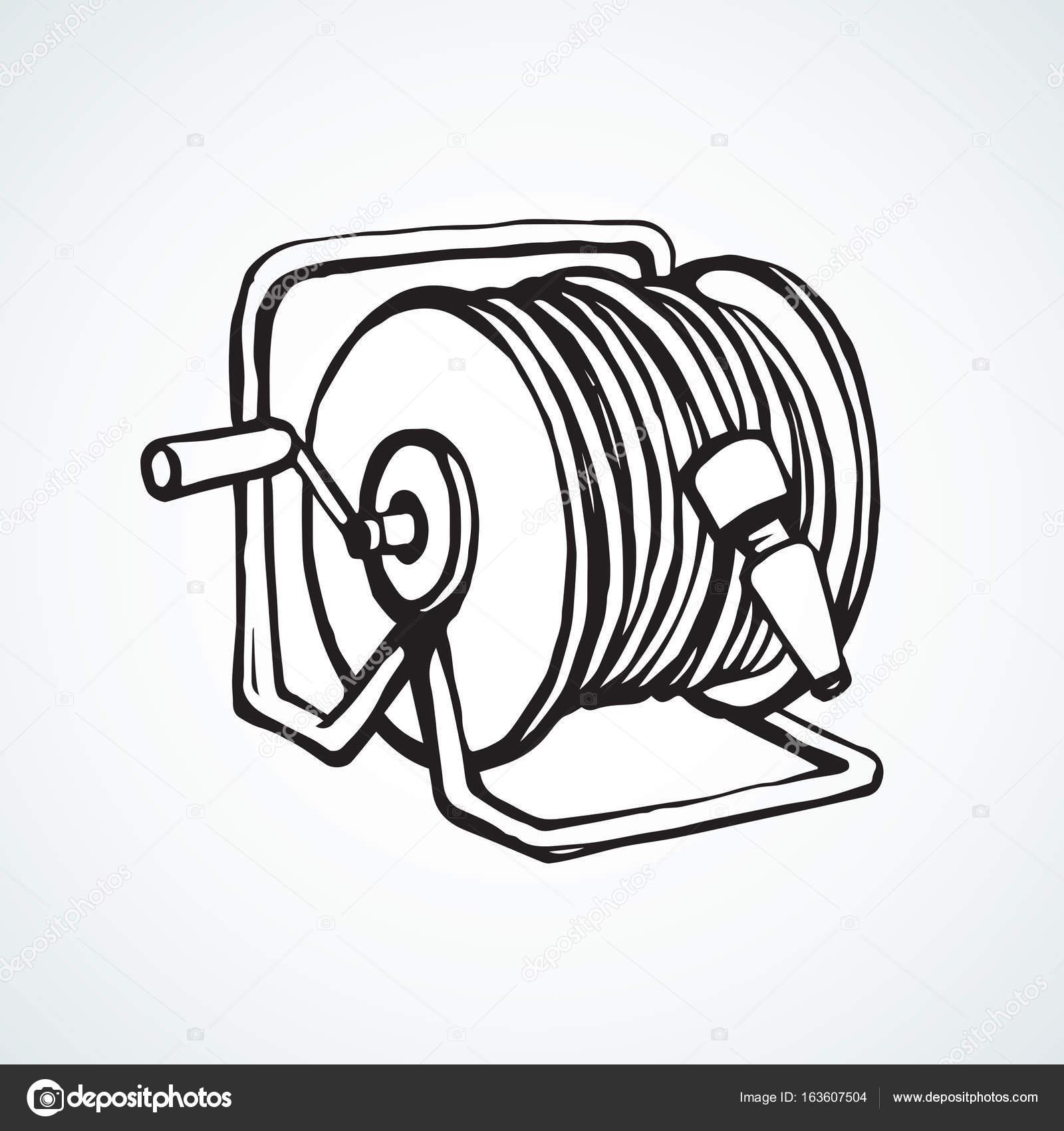 1600x1700 Roll The Hose. Vector Drawing Stock Vector Marinka