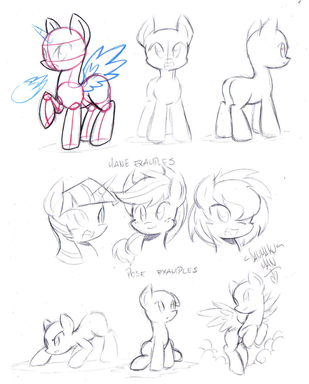 1024x1271 Pony Reference Guide By Danmakuman