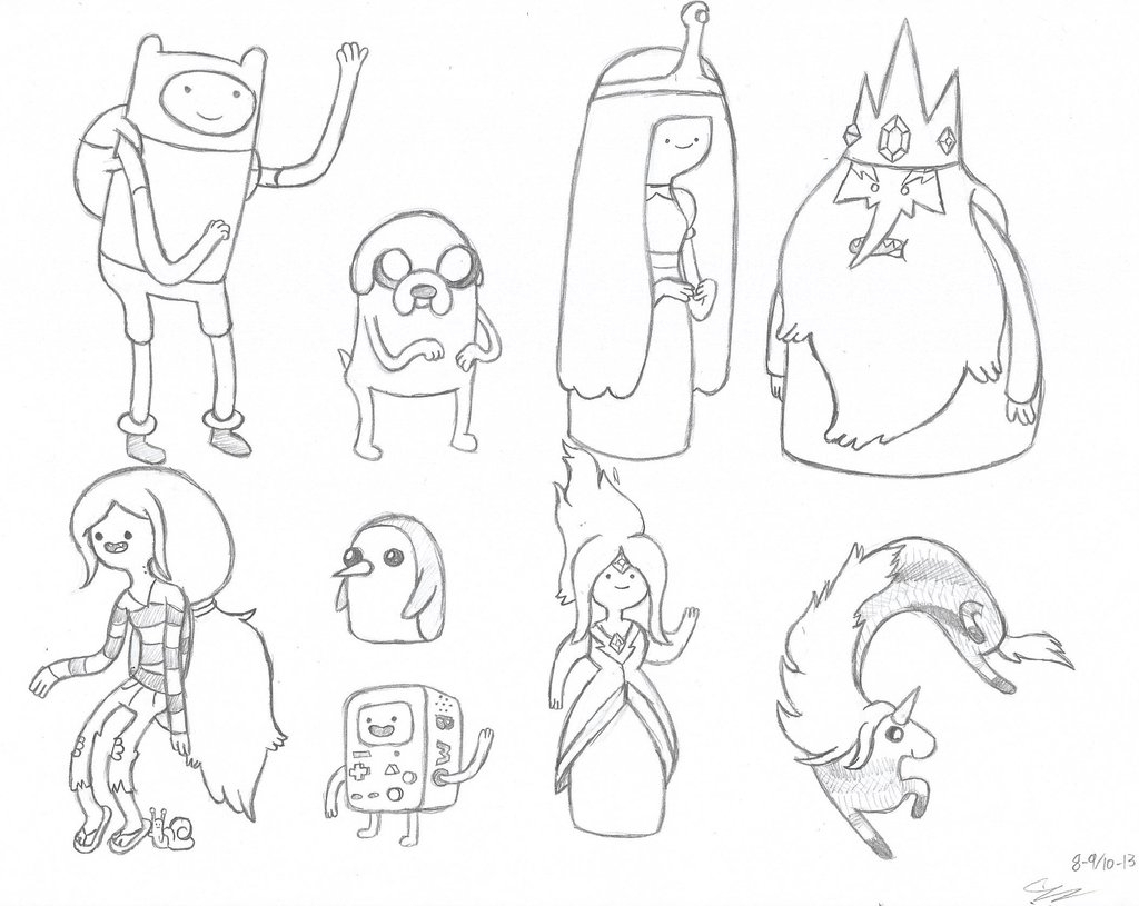 1024x815 Drawings Of Adventure Time Characters Draw Adventure Time
