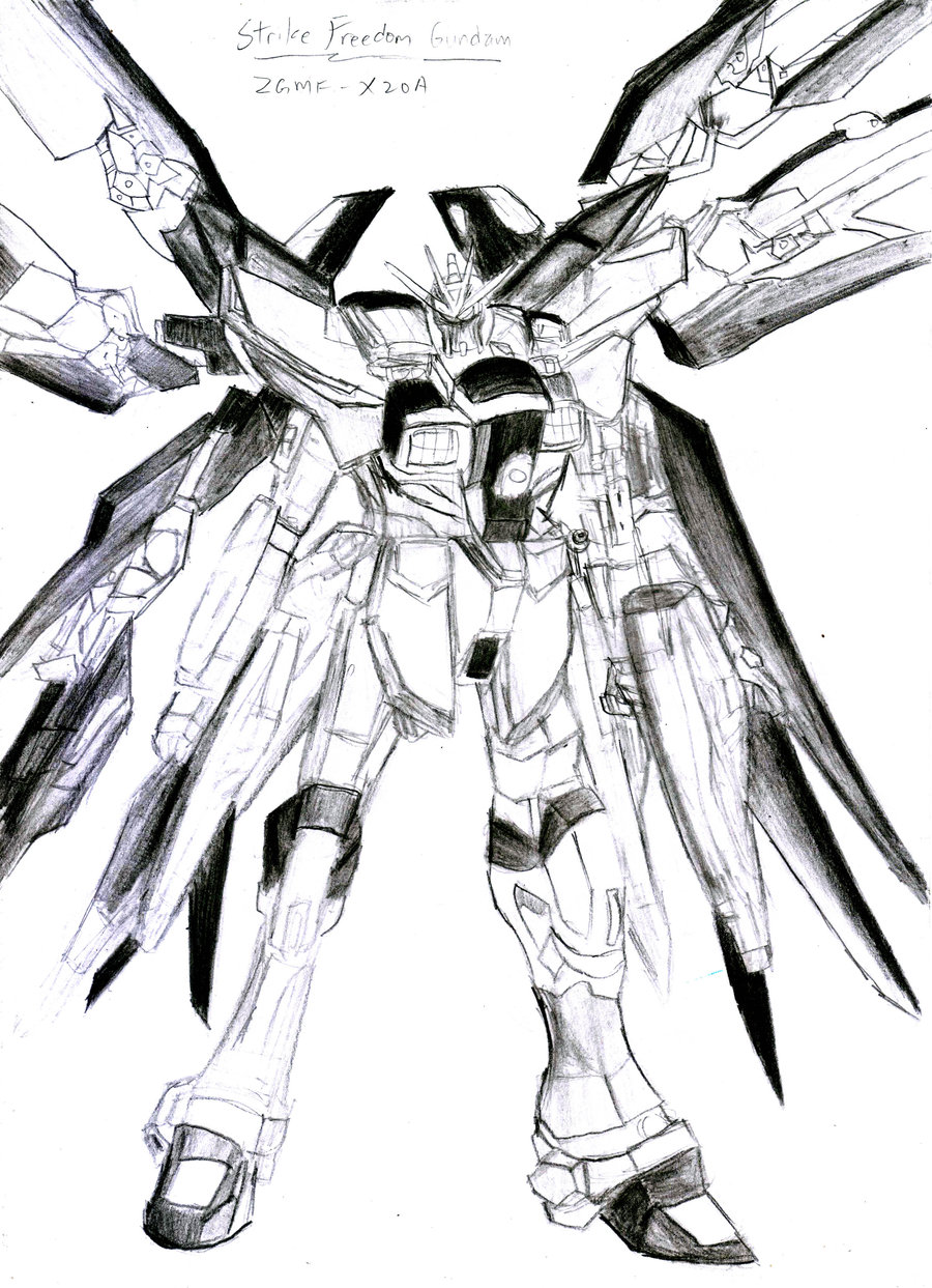 900x1243 Strike Freedom Reference Drawing By Thunderxblitz