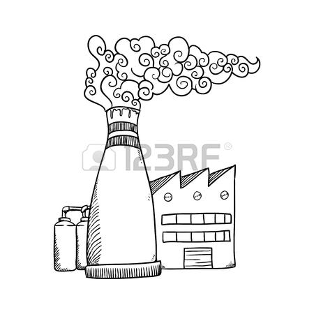 450x450 Refinery Plant Silhouette Icon Vector Illustration Graphic Design