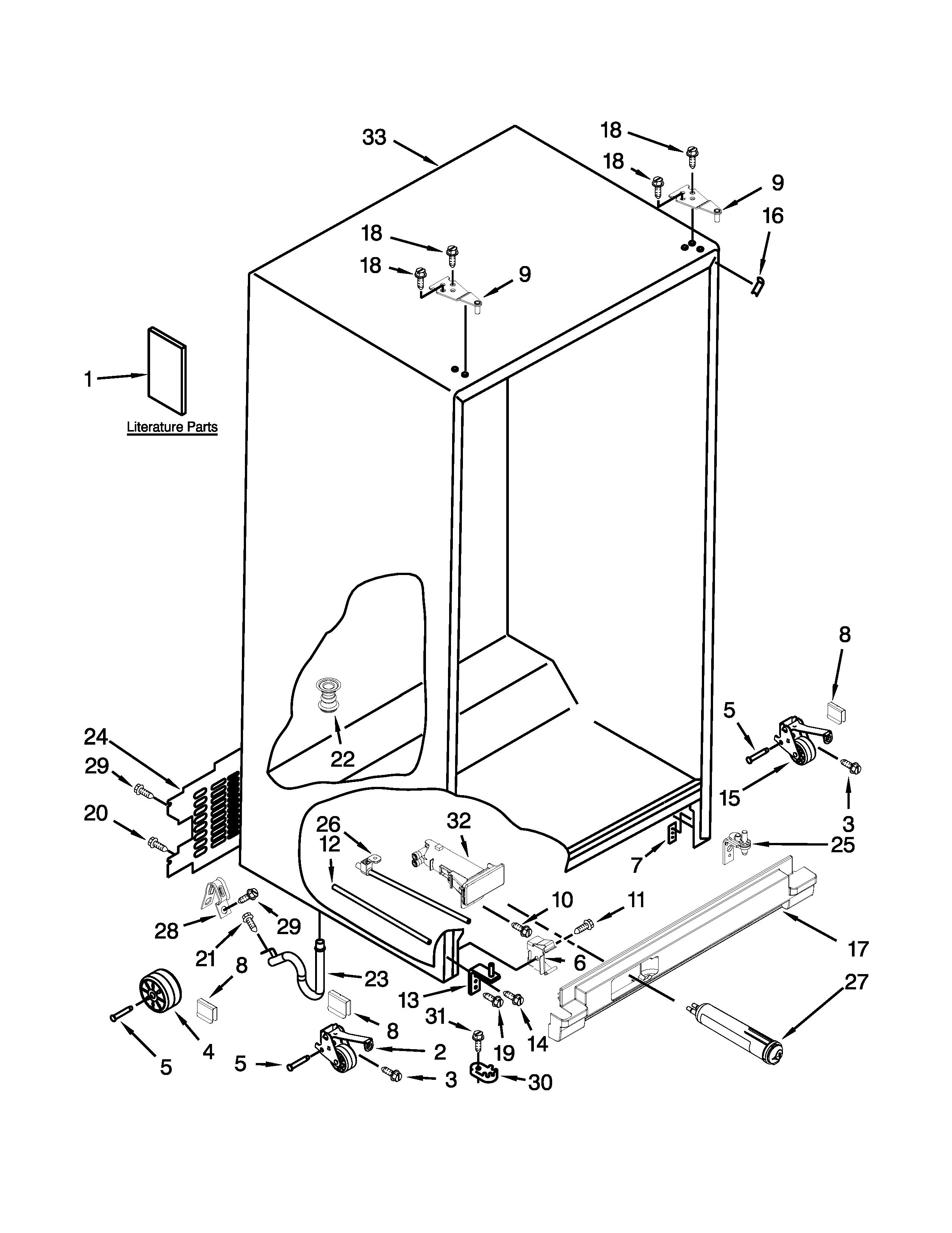 2550x3300 Whirlpool Refrigerator Parts Model Wrs322fdaw00 Sears Partsdirect
