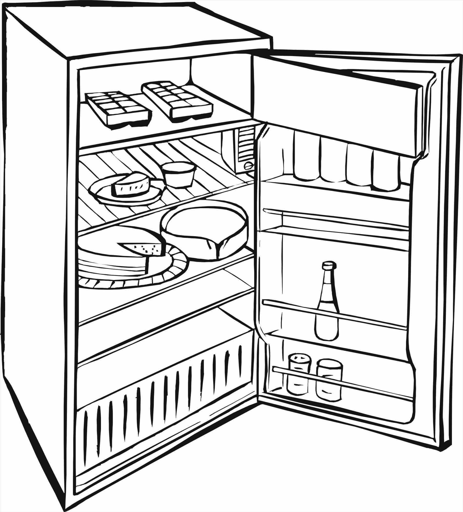 refrigerator drawing at getdrawings com