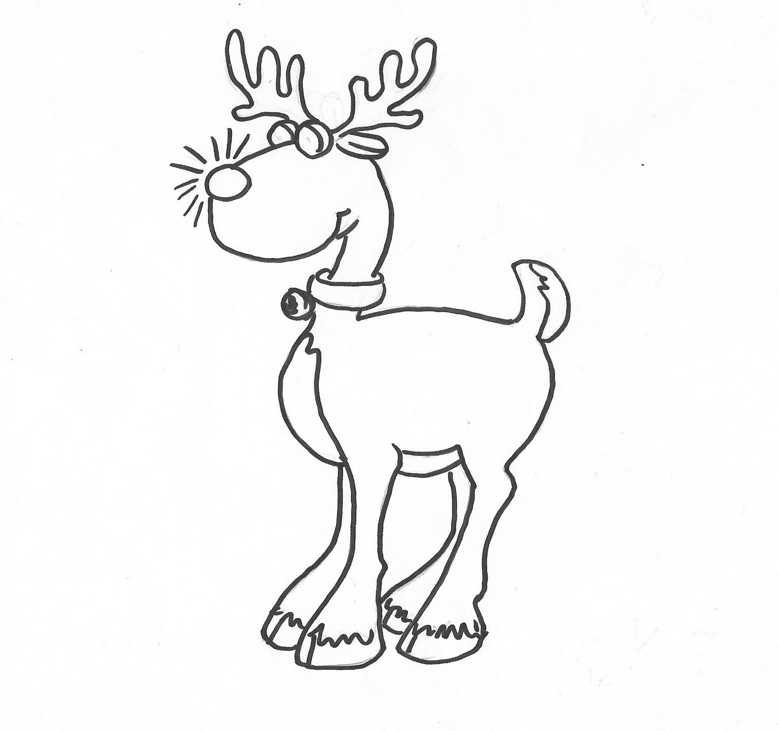 1600x1501 Christmas Lights On Reindeer Antlers Coloring Page Pages Rudolph