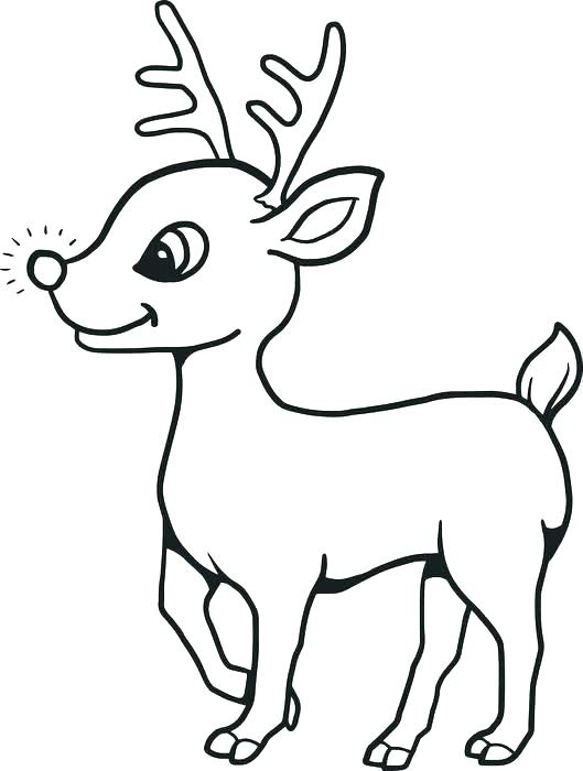 529x700 Rudolph Coloring Book Also Drawn Reindeer Color Pencil And In 15