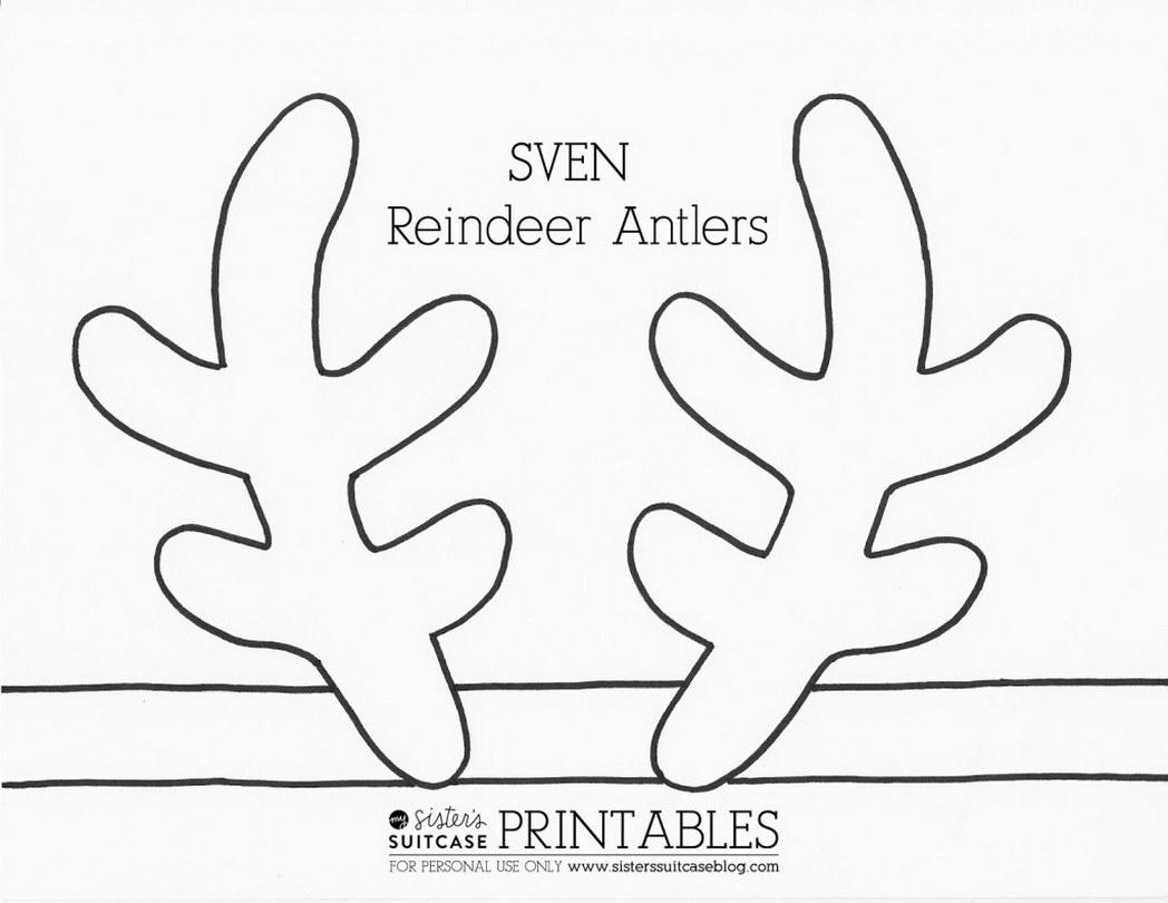 1048x810 Click Here Printable Pdf Reindeer Antlers 478596 Coloring Pages