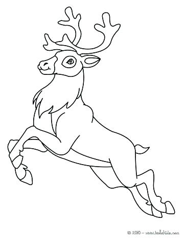 364x470 Coloring Pages Of Reindeer How To Draw The Reindeer Step By Step