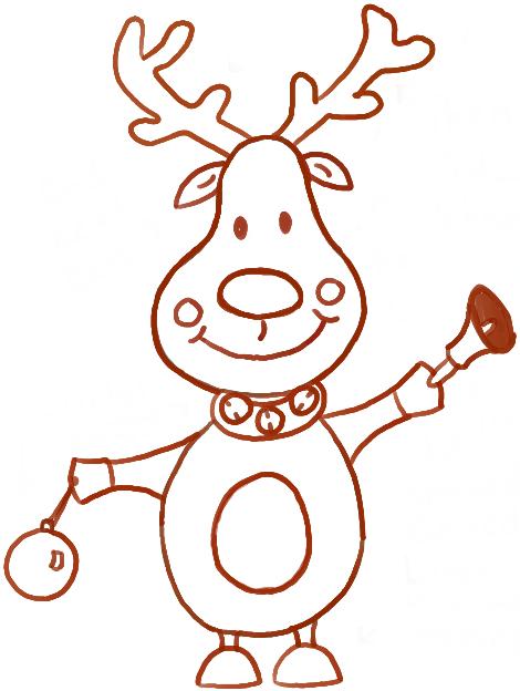 Christmas Cartoon Drawings.Reindeer Cartoon Drawing At Getdrawings Com Free For