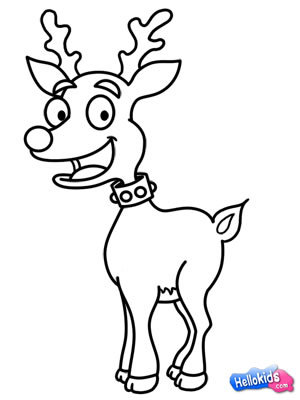 300x400 Comment Dessiner How To Draw A Reindeer