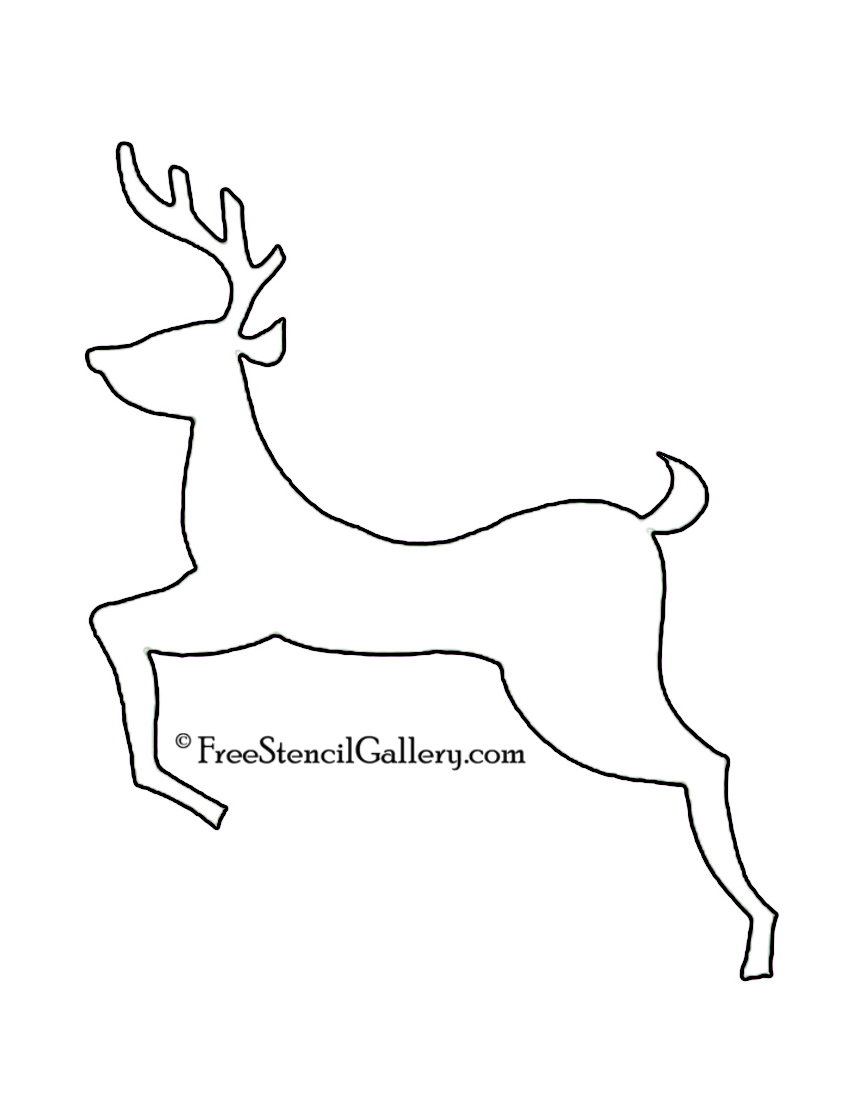 Reindeer Drawing Template