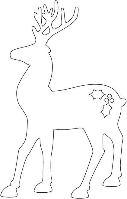 reindeer body template